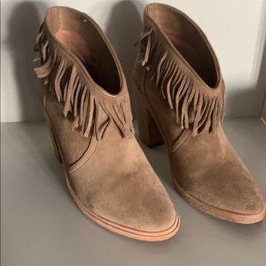 Joie Loren fringe bootie mousse color size 6.5